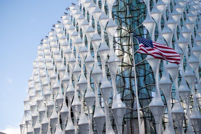 Посольство Соединенных Штатов Америки в Лондоне стоковые фотографии rf