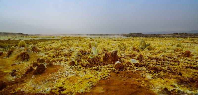 Посолите конец-вверх структуры внутри кратера Dallol вулканического в депрессии Danakil, Afar, Эфиопия стоковое фото