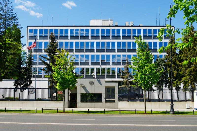 Посольство США в Варшаве, Польше стоковые изображения