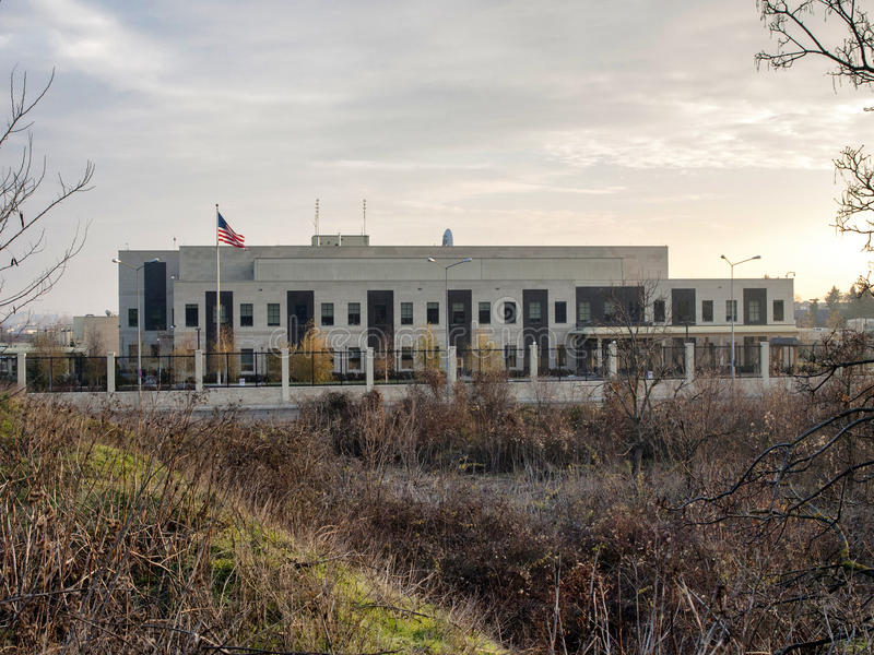 Посольство США стоковые изображения