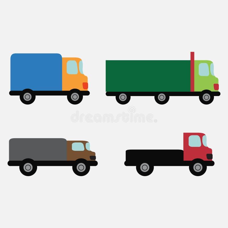 Поставка автомобиля установленная иллюстрация вектора