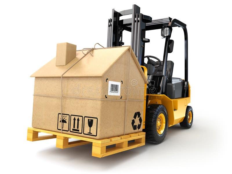 Поставка или moving концепция дома иллюстрация вектора
