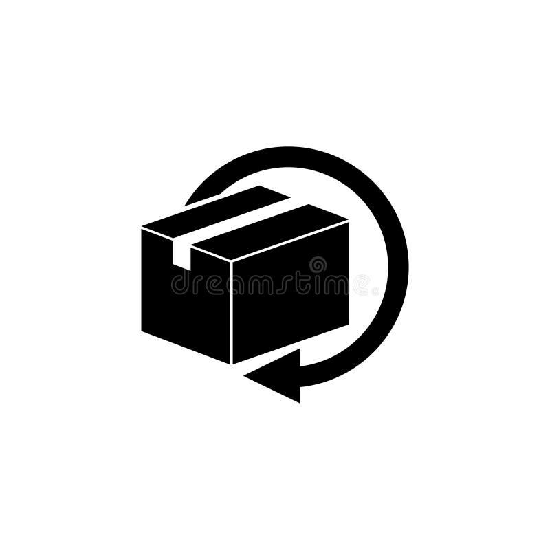 Поставка и свободно возвращенные подарки или значок вектора пакетов плоский иллюстрация штока
