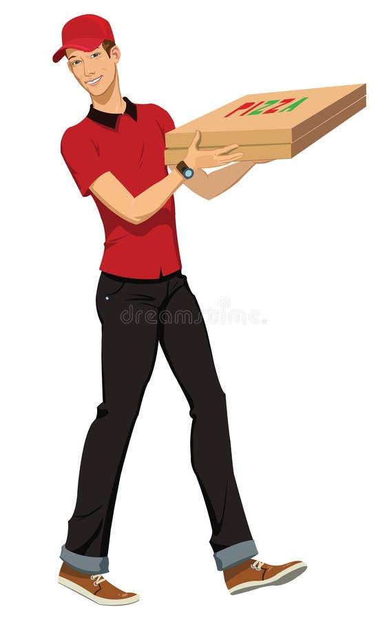 Download Поставка пиццы иллюстрация вектора. иллюстрации насчитывающей деньги - 37926261