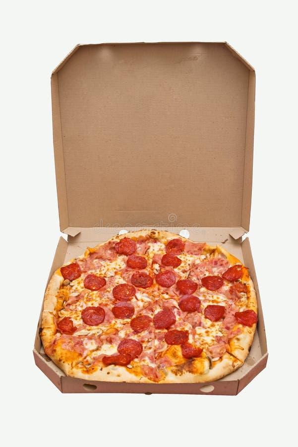 Поставка пиццы Pepperoni стоковые фото