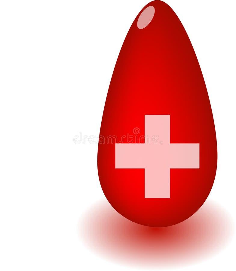поставка пожертвования принципиальной схемы крови иллюстрация вектора