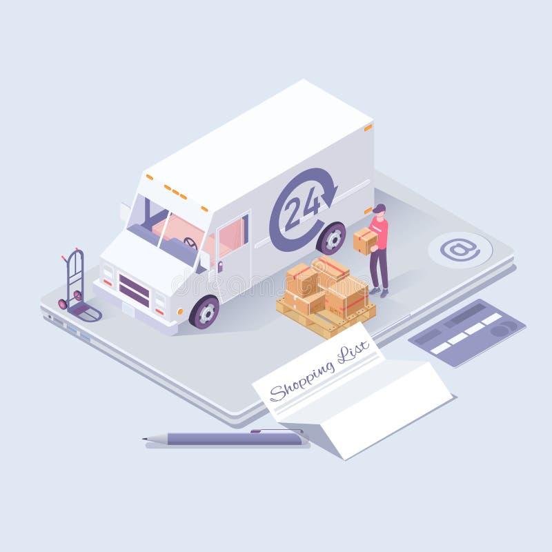 поставка принципиальной схемы голодает Снабжение и значки поставки равновеликие Предпосылка онлайн концепции ecommerce покупок ра бесплатная иллюстрация