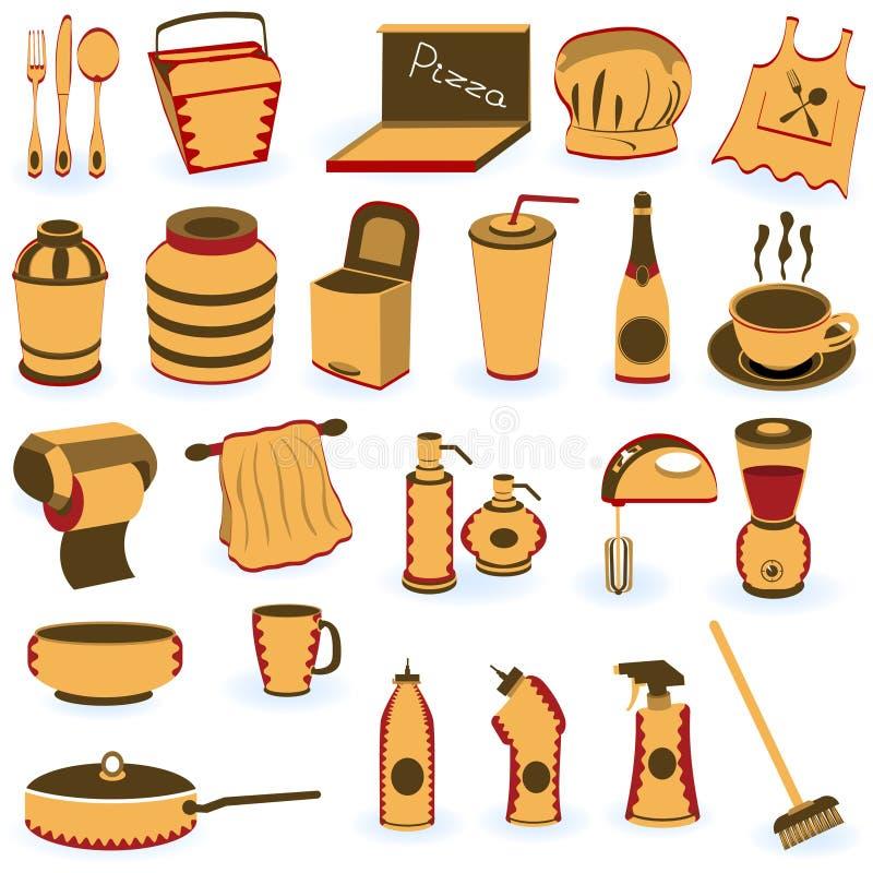 поставка ресторана икон бесплатная иллюстрация
