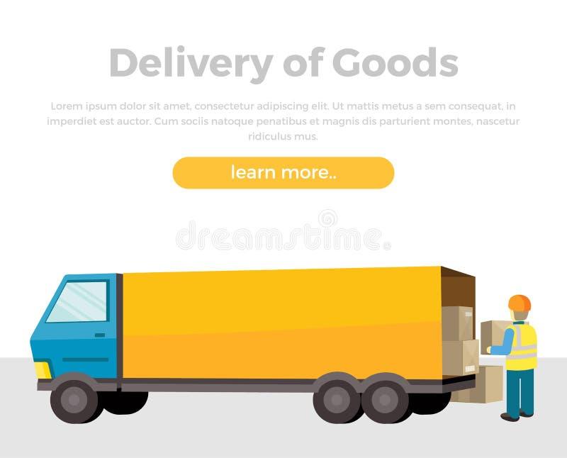 Поставка товаров иллюстрация штока