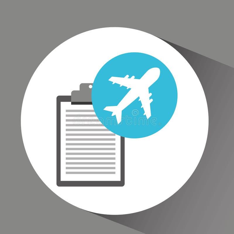 Поставка человека проверяя поставку перехода авиапорта иллюстрация вектора