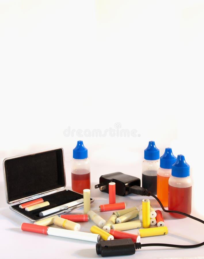 поставкы сигареты электрические стоковая фотография rf