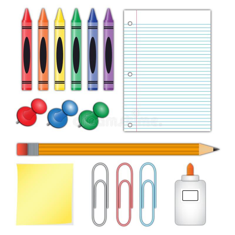 Поставкы школы иллюстрация штока