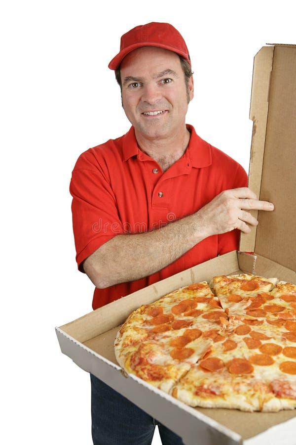 поставленная свежая пицца стоковое изображение rf