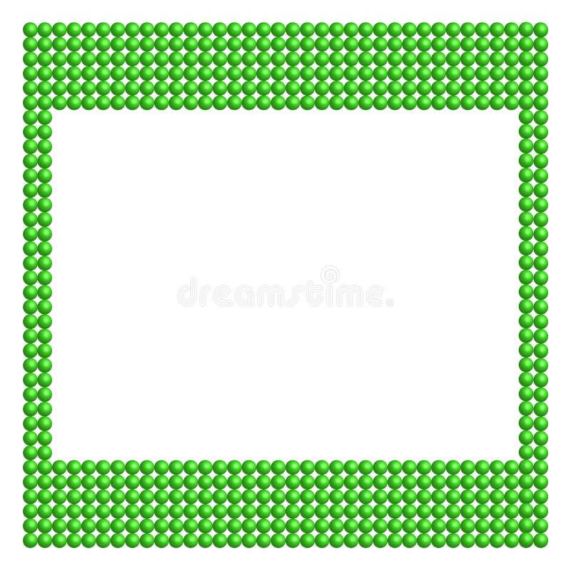 Поставленная точки зеленая рамка иллюстрация вектора