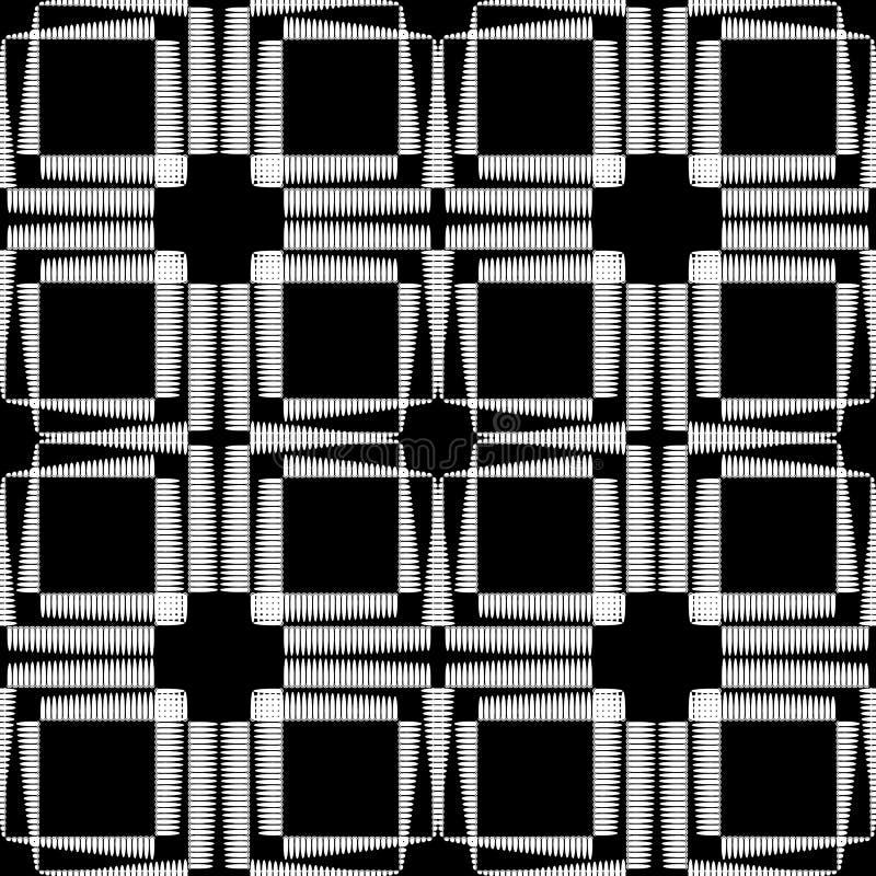 Поставленная точки картина checkered вектора полутонового изображения безшовная Черно-белая геометрическая предпосылка тартана по иллюстрация вектора