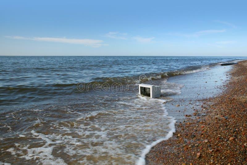 поставленные волны монитора стоковое фото rf