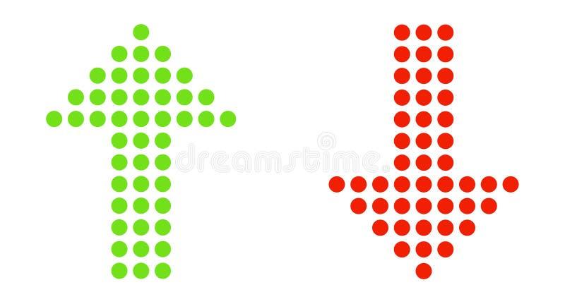 Поставленные точки стрелки вверх и вниз бесплатная иллюстрация