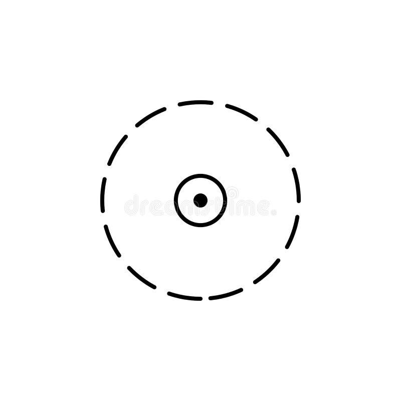 поставленный точки значок круга Элемент трутней для передвижной иллюстрации apps концепции и сети Тонкая линия значок для дизайна иллюстрация вектора