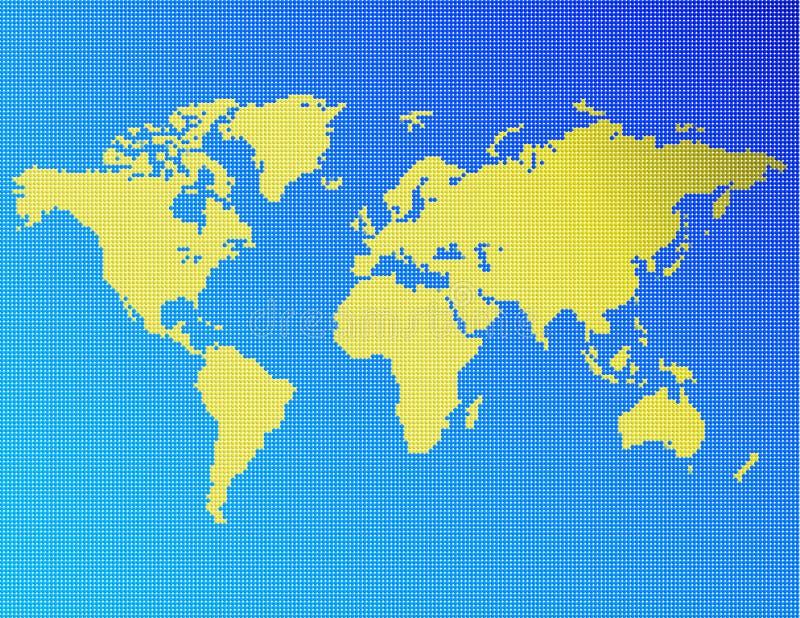 поставленный точки мир иллюстрация вектора