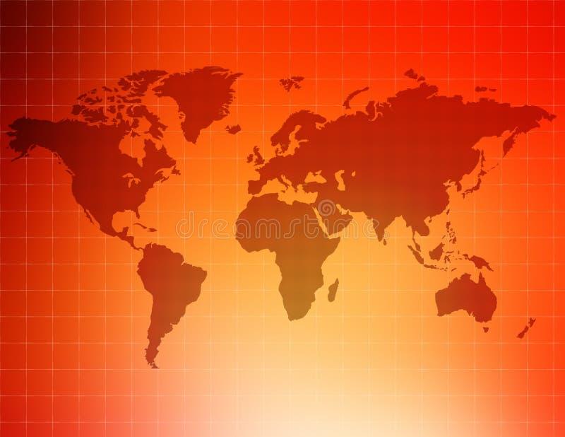поставленный точки мир Стоковая Фотография RF