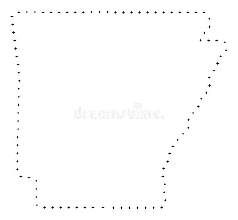 Поставленный точки ход Арканзас заявляет карту бесплатная иллюстрация