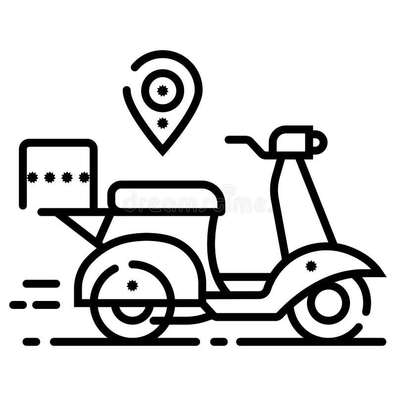 Поставлять иллюстрацию вектора значка мотоцикла бесплатная иллюстрация