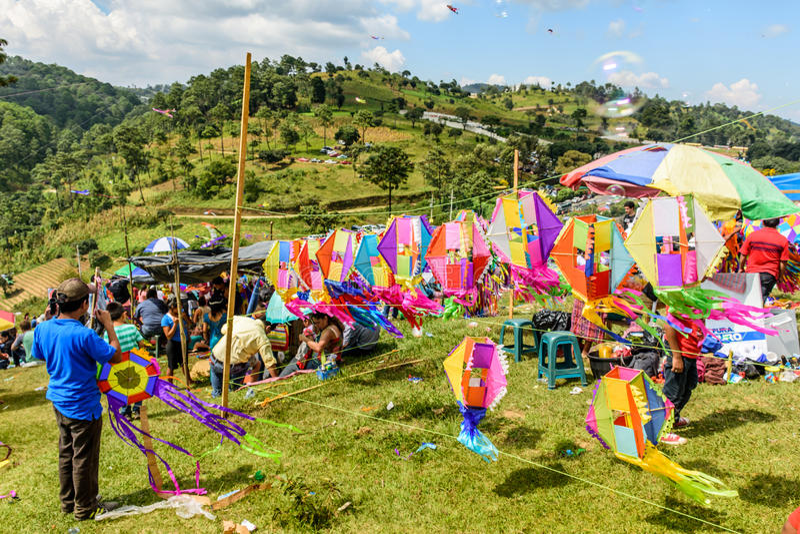 Поставщик змея, гигантский фестиваль змея, весь день Святых, Гватемала стоковая фотография