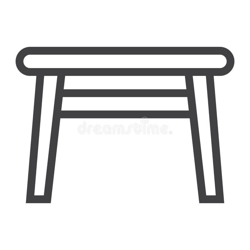 Поставьте линию на обсуждение значок, мебель и внутренний элемент иллюстрация вектора
