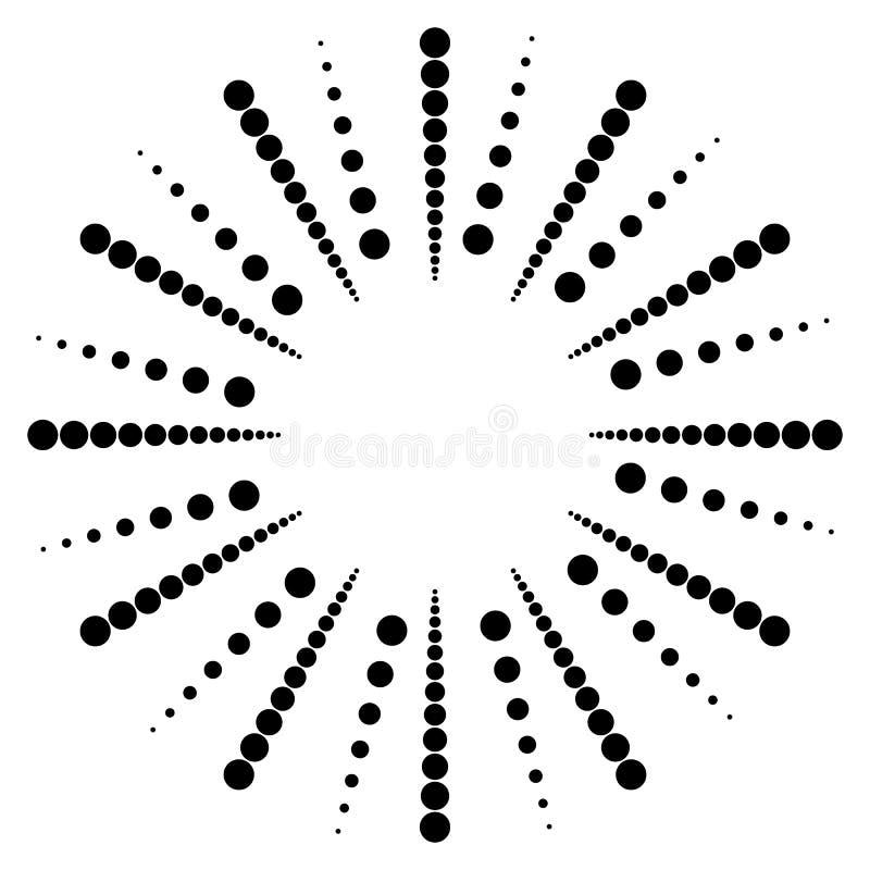 Download Поставленное точки радиальное, излучающ линии Циркуляр ставит точки мотив Абстрактный Bl Иллюстрация вектора - иллюстрации насчитывающей pointillism, разносторонне: 81809845