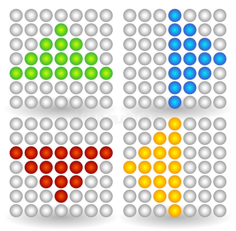 Поставленные точки значки стрелки бесплатная иллюстрация