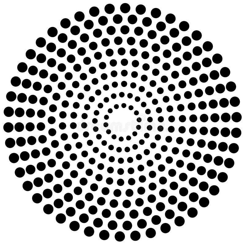Поставленный точки круговой элемент Illustrati Mononochrome черно-белое бесплатная иллюстрация