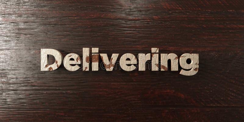 Поставлять - grungy деревянный заголовок на клене - 3D представил изображение неизрасходованного запаса королевской власти бесплатная иллюстрация