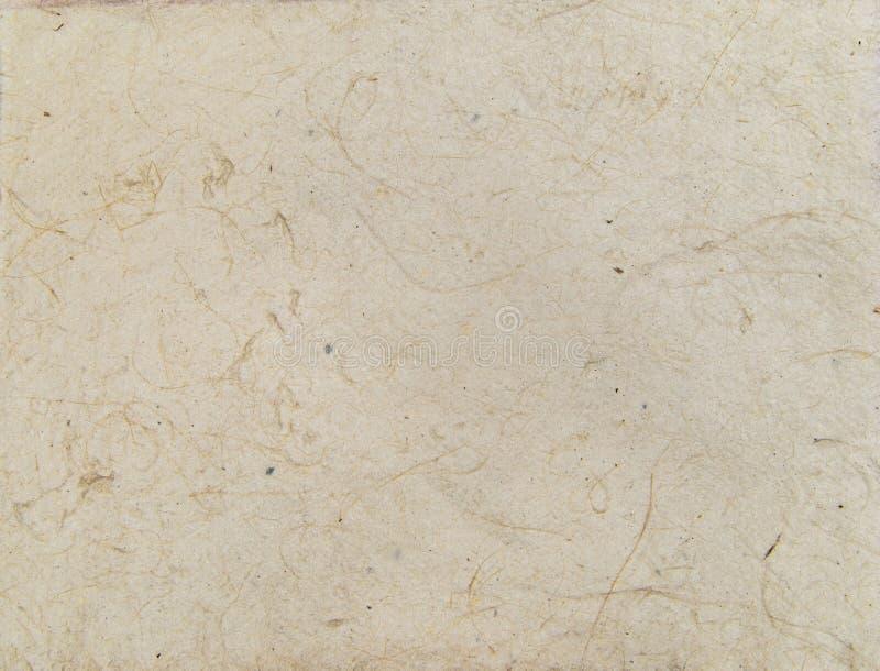 Постаретая азиатская текстура handmade бумаги с венами и волокнами стоковая фотография