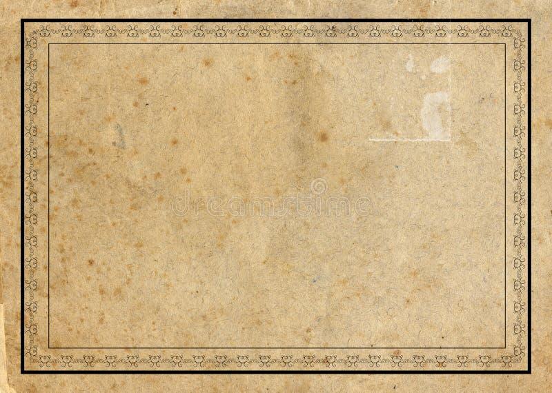 постаретая бумага граници бесплатная иллюстрация