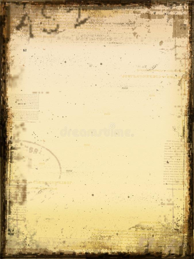 постаретая бумага иллюстрация штока
