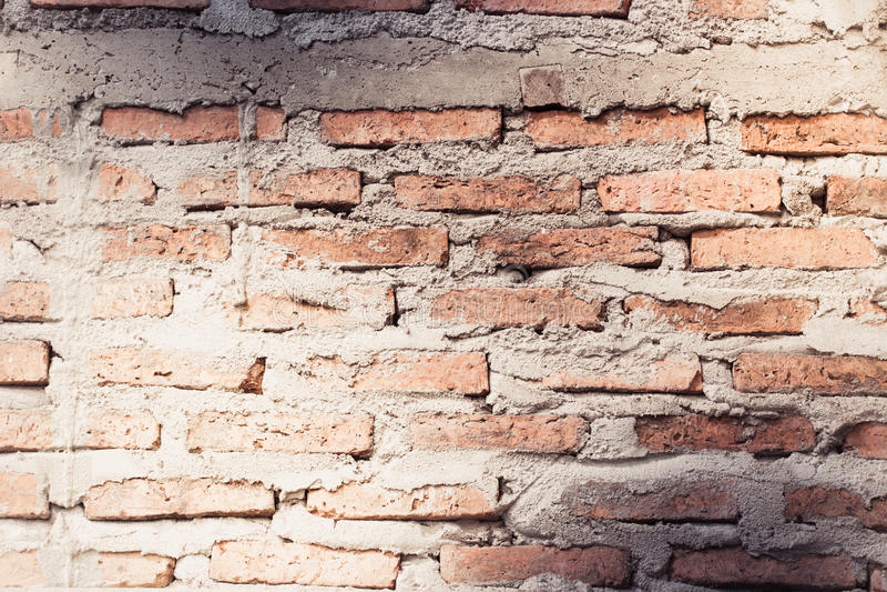 Постаретая предпосылка стены улицы, старая предпосылка текстуры красного кирпича стоковые фотографии rf