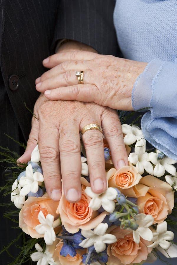 постаретое замужество стоковое фото rf