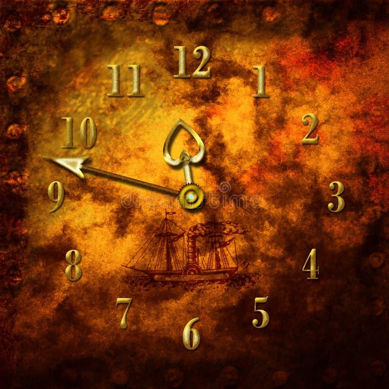 постаретые часы иллюстрация вектора