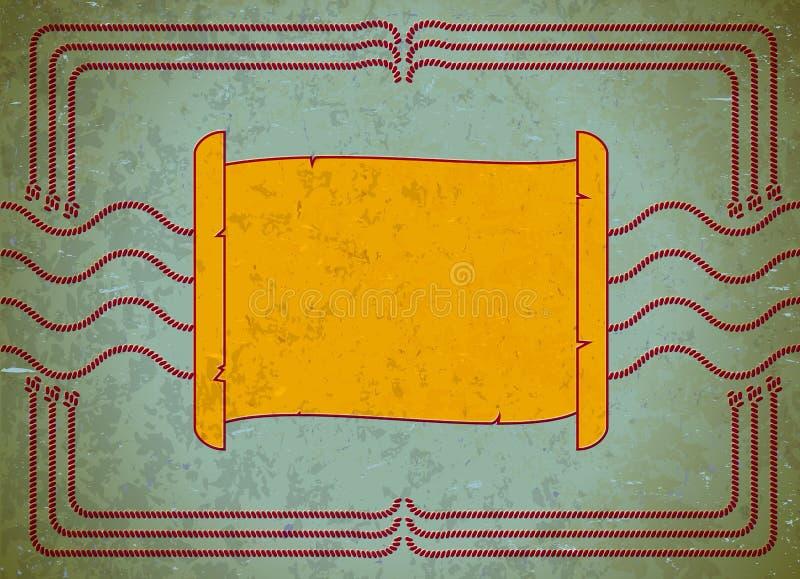 постаретый перечень рамки картона бесплатная иллюстрация