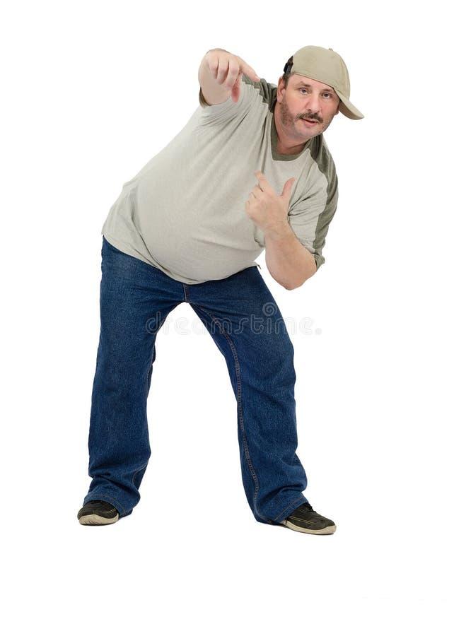 Постаретый серединой танцор рэпа стоковое изображение