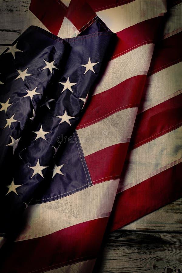 Постаретый флаг США стоковые изображения