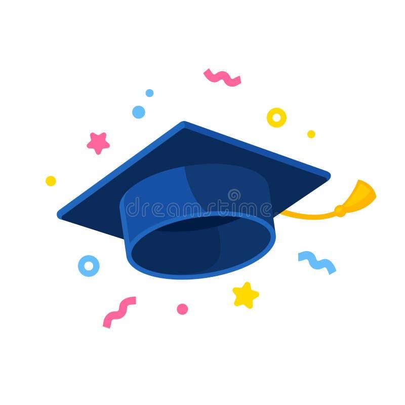 Постдипломная иллюстрация крышки с confetti иллюстрация штока