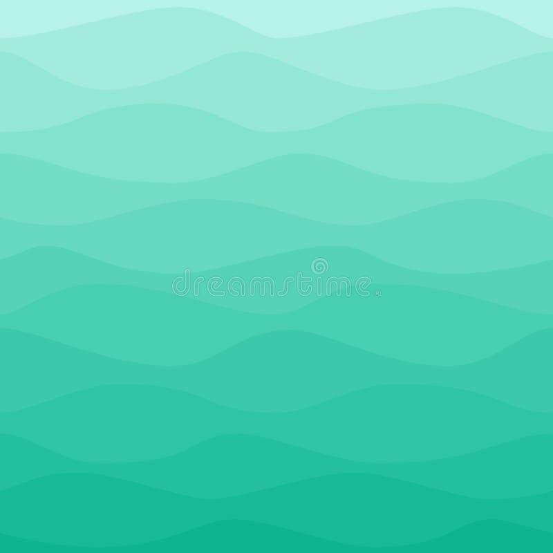 Постепенно волнистая голубая предпосылка бирюзы иллюстрация штока