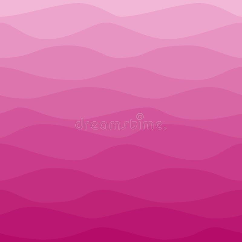 Постепенно волнистая розовая предпосылка иллюстрация штока