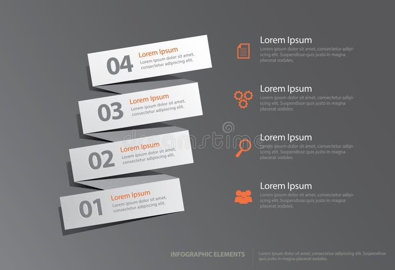 Постепенно элементы Infographic бесплатная иллюстрация