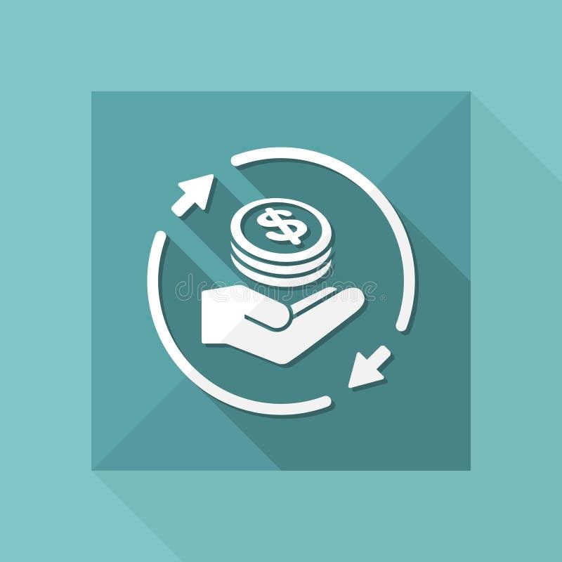 Постоянн банковские обслуживания обменом - значок сети вектора иллюстрация штока