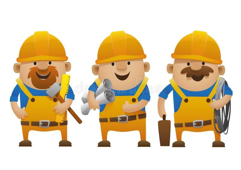 Построители шаржа стоковое фото rf