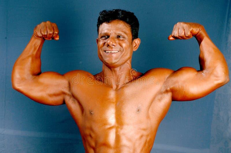 Построитель мужского тела стоковое фото rf