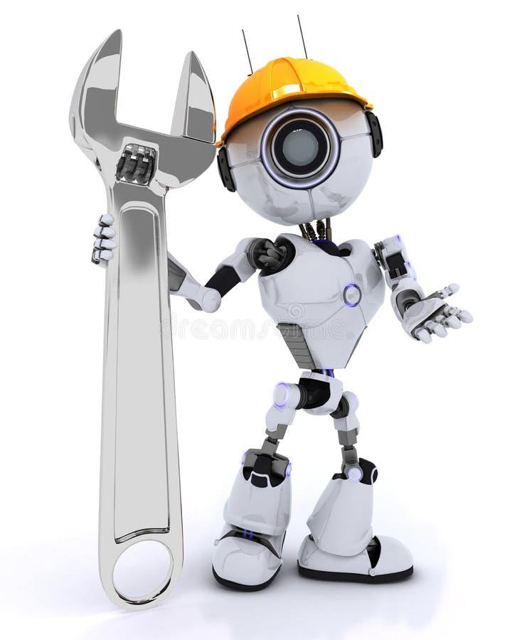 Построитель робота с ключем бесплатная иллюстрация