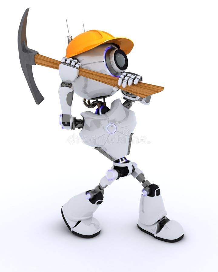 Построитель робота с обушком иллюстрация вектора